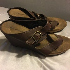 Bear Paws Brown Wedge Sandals
